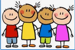 clipart of smiling children