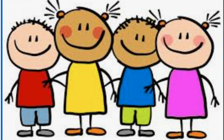 clipart of smiling children